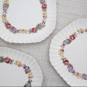 Vintage Spode Rose Briar Luncheon Plate L326-328